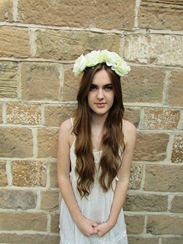 Grand Blanc Ivoire Pivoine Fleur Bandeau cheveux Couronne rose BIG Guirlande Festival Z90* * * * * * * * exclusivement vendu par–Beauté * * * * * * * *