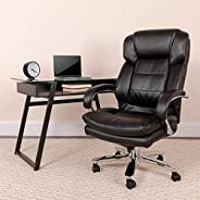 Flash Furniture Hercules Series 24/7 Intensive Use Big & Tall 500 lb. Rated Executive Swivel Chair with Lo