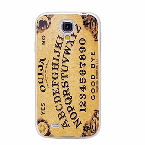 S4 Case,Samsung S4 Case,Galaxy S4 Case,ChiChiC Full Protective Case Slim Durable Soft TPU Cases Cover Samsung Galaxy S4 Galaxy S IV,Yellow Ouija Board Funny