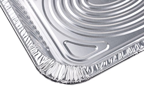 A World of Deals 9 X 13 Half Size Deep Foil Steam Pans with Lids, 30 Pack by A World Of Deals (Image #2)