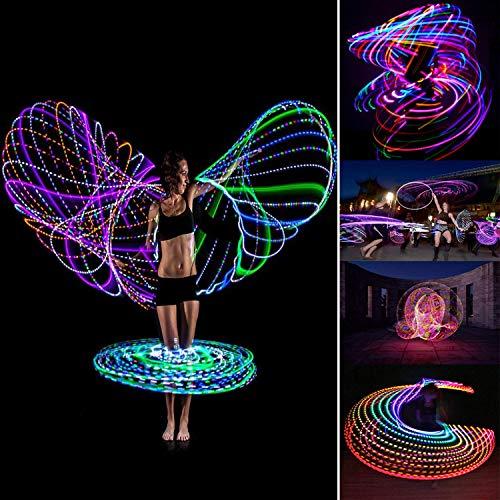 DASINKO led Hula Hoop for Kids Fitness Light up Hoola Hoop