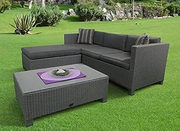 Rattan lounge set  Amazon.de: Poly Rattan Lounge Set