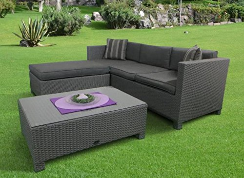 Poly Rattan Lounge Set Bayano absolut wetterfest - variable Liegefläche