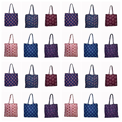 Bag Pcs Lot Bag Tote hobo thehandicraftworld Cotton Hippie Shoulder 100 Wholesale Jute Bag Shopping New xx7w6vq8