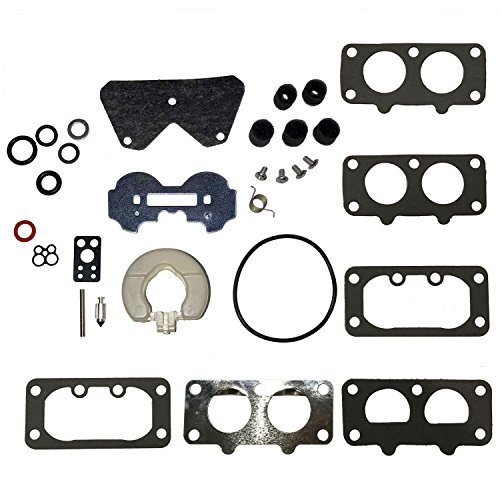 797890 Carburetor Rebuild Kit With Float, Choke Valve and Gaskets for Briggs & Stratton V-Twin 20-25hp Model 791230 Carburetor (Twin Valve)