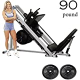 Body-Solid GLPH1100 Leg Press Hack Squat Machine with Iron Olympic Plates