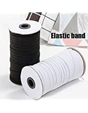 Leorealko Elastic Ribbon Elastic Cord,3mm Braided Elastic Cord Heavy Stretch String Band Rope 200 Yard Sewing Spool for Jewellery Making
