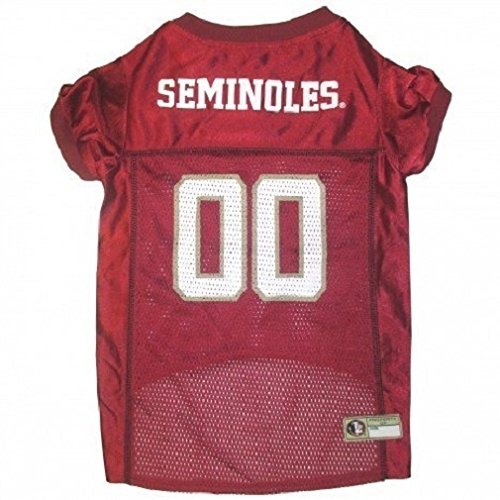 Mirage Pet Products Florida State Seminoles Jersey for Dogs and Cats, X-Small