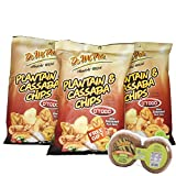 DMP D'TODO Plantain and Cassaba Chips/Yuca with Seasoned Pork Skins 24-PACK - 1 FREE GIFT