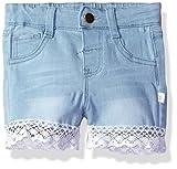 Rosie Pope Baby Girls' Short with Crochet Trim, Denim, 24M
