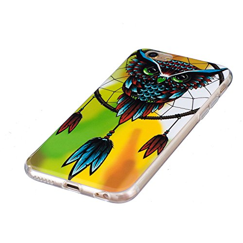 Custodia iPhone 6 6S , LH Gufo Fluorescenza Silicone Morbido TPU Case Cover Custodie per Apple iPhone 6 6S 4.7