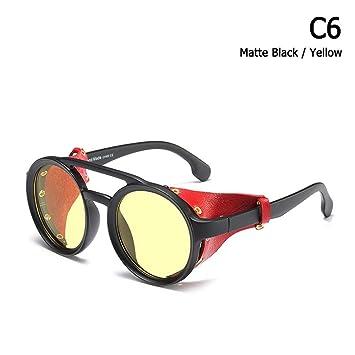ZHOUYF Gafas de Sol Moda Vintage Steampunk Estilo Punk ...