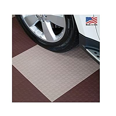 BlockTile B0US5130 Garage Flooring Interlocking Tiles Coin Top Pack, Beige, 30-Pack