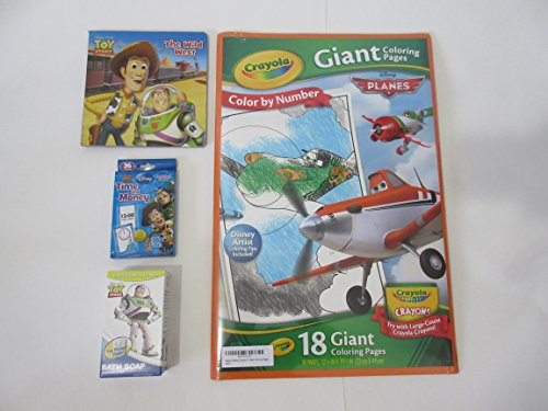 Disney Toy Story + Planes Bundle 18 Giant Coloring Poster Pages, Learning Cards, the Wild West Story
