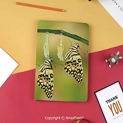 Swallowtail Life Cycle - Case for Samsung Galaxy T820 T825 Slim Folding Stand Cover PU Tab S3 9.7,Swallowtail Colorful,Transformation of Lime Natural Life Cycle Theme Decorative,Yellow Green Black