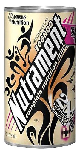 Nutrament Energy and Fitness Drink, Eggnog, 12 Ounce Cans (Pack of 12) by Nutrament -