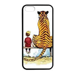 Calvin and Hobbes Sittng Case cover for iPhone 5 5s protective Durable black case