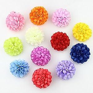 FLOWER 30pcs 5cm Silk Carnation Artificial Pompom Head Mini Hydrangea Home Wedding Decoration DIY Wreaths 38