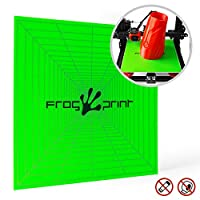 "Frog Print 3D Premium Printing Build Surface for Perfect Prints / 12"" x 12"" (310mm X 310mm) with 3M Adhesive Backing. Can be Cut for All 3D Printers Including: Makerbot/Lulzbot / CR-10 / CR-10S from Frog Print 3D"