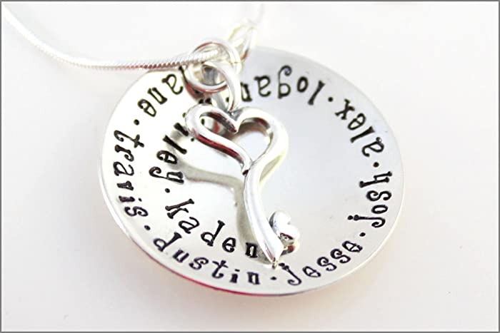 amazon com custom family necklace sterling silver name necklace