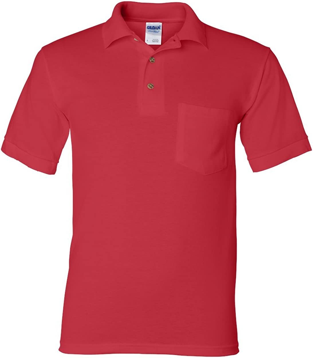 Red Pack of 12 Gildan 6 oz 50//50 Jersey Polo with Pocket M G890