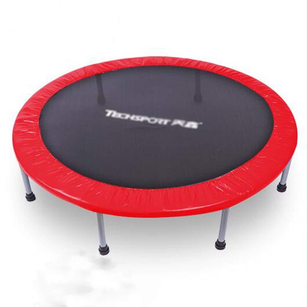 Indoortrampoline Trampoline Erwachsene Fitness Trampolin Indoor Home Jumping Training Gewichtsverlust Griff Trampolin 48INCH (Farbe : ROT, Größe : with Handle)