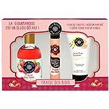 Les Petits Plaisirs Coffret Eau de Toilette Fraises des Bois 110ml + Roll 'on Gel 20ml + Crème pour Mains 50ml