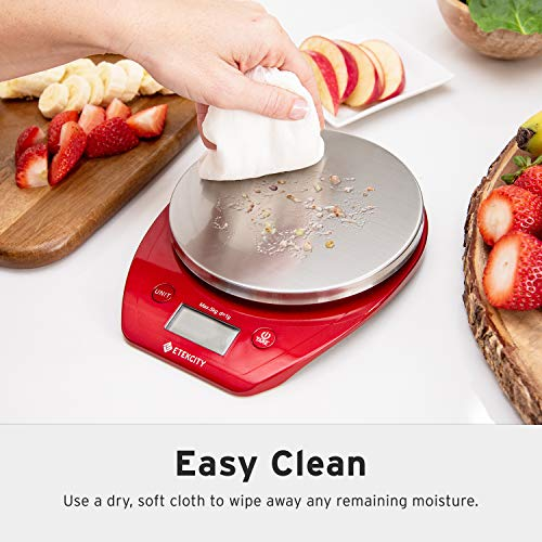 10440aa64b2f Etekcity Food Kitchen Scale Digital Weight Grams and Oz, Removalble Bowl  for Cooking and Baking, Stainless Steel