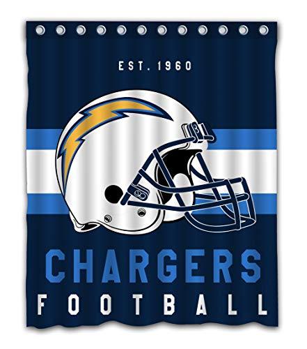 - Weckim Custom San Diego Football Team Waterproof Fabric Shower Curtain Colorful Design for Bathroom Decor 12 Holes Size 60x72 Inches