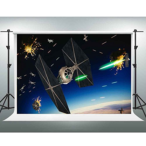 (GESEN Science Fiction Abstract Backdrop 10X7ft Star Wars The flames of war Photography Backgrop Game Live Background Video Studio Props)