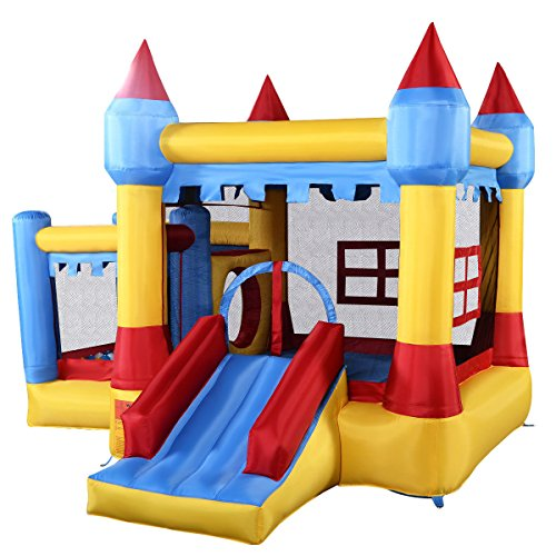 Generic Inflatable Bounce House Castle Commercial Kids Jumper Moonwalk With Ball Without Blower (Jumpers Inflatable)