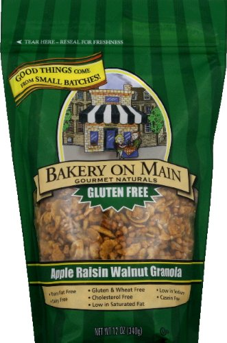 Bakery On Main Gluten Free Granola, Apple Raisin Walnut 12-Ounce (Pack of 2)