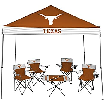 Image of Canopies Jarden Sports Licensing NCAA Alabama Crimson Tide Tailgate Kit, 9 x 9 Canopy, 4 Chairs, 1 Table