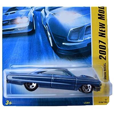 Hot Wheels 2007 New Models 18/36 1964 Ford Galaxie 500XL 18/180, Blue: Toys & Games