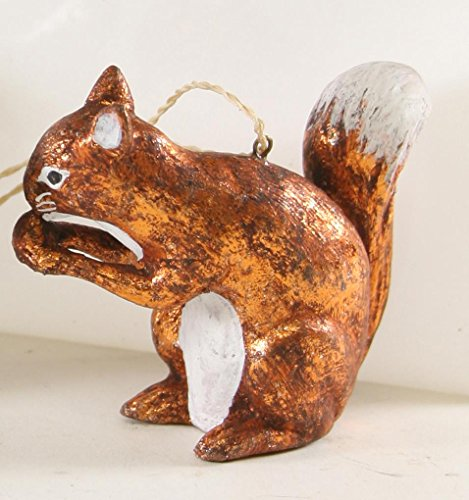 - Cody Foster Christmas Ornament Figure Woodland Squirrel Hand-Blown Glass Copper