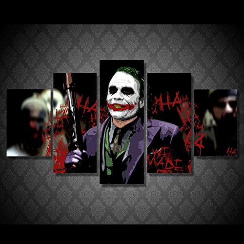 Joker-batman-movie-print-poster-canvas-decoration-5-pieces
