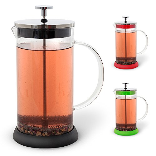 Teabloom NEW French Press 34 oz, All Glass Body Tea and Coffee Press, Stainless Steel Tea & Coffee Maker (Black) (Body French Press Parts compare prices)