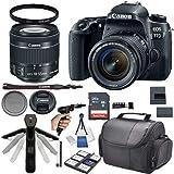 Canon EOS 77D DSLR Camera w/ 18-55mm STM Lens + 32GB Card + Photo Accessory 17 Piece Bundle