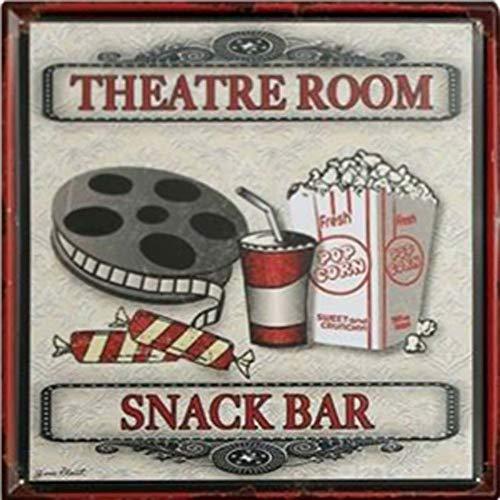Easy Painter Theatre Room Snack BAR Vintage Metal Tin Signs Cinema Poster Pub Bar Decor Art Wall Plaque 11.8x11.8inch ()