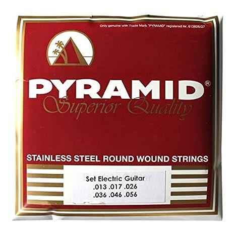 Pyramid Stainless Steel Jazz Medium Cuerdas de Guitarra Eléctrica ...