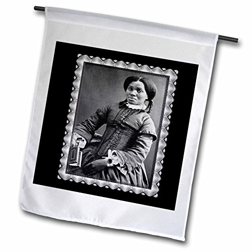 BLN Vintage Photographs of History and People 1800s - 1900s - African American Woman c. 1850 Black and White Photograph - 12 x 18 inch Garden Flag (fl_160749_1) - Black History Flags
