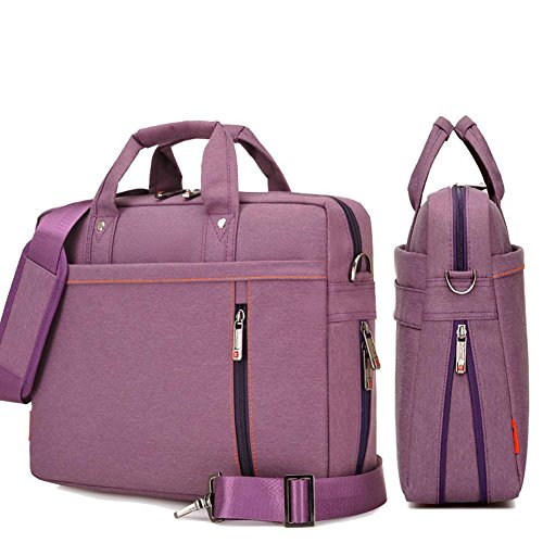YiYiNoe Shoulder Bag for 17 inch Laptop Business Briefcase Waterproof Messenger Bags Purple