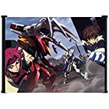 """Code Geass Kallen vs Suzaku Battle Anime Fabric Wall Scroll Poster (42""""x31"""") Inches"""