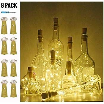 Amazon Com Advocator Warm White Wine Bottle Lights With