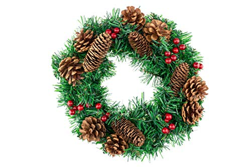 Clever Creations Christmas Wreath with Sprouted Pine...