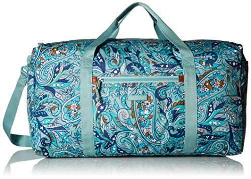 Vera Bradley womens Lighten Up Large Travel Duffel, Polyester, Daisy Paisley, One Size (Bag Weekender Paisley)