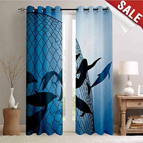 Hengshu Underwater Decorative Curtains for Living Room A