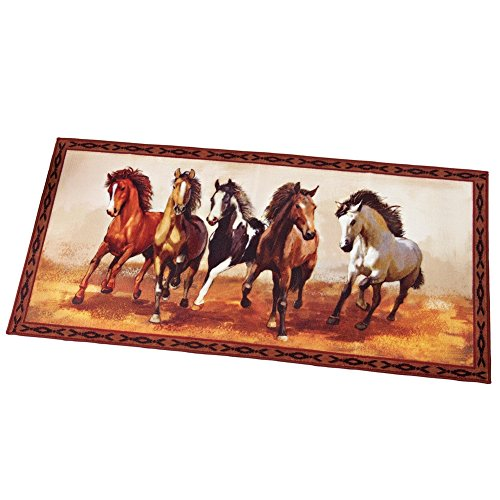 Western Galloping Accent Slip Resistant Backing