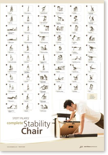 (STOTT PILATES Wall Chart - Complete Stability Chair)