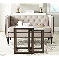Safavieh Home Collection Egan White and Dark Brown Nesting Tables